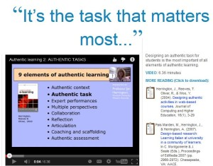 authentic task visual