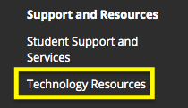 Technology Resources is a web link